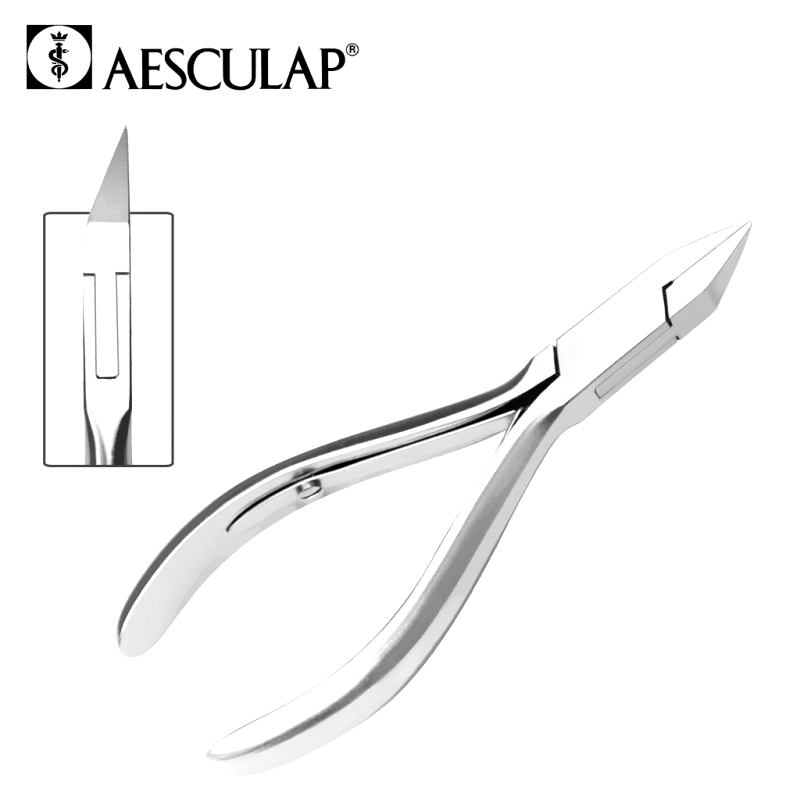 Pinces à ongles Pince à ongles - Aesculap 482 - Double ressort - Taille 12 cm – Inox