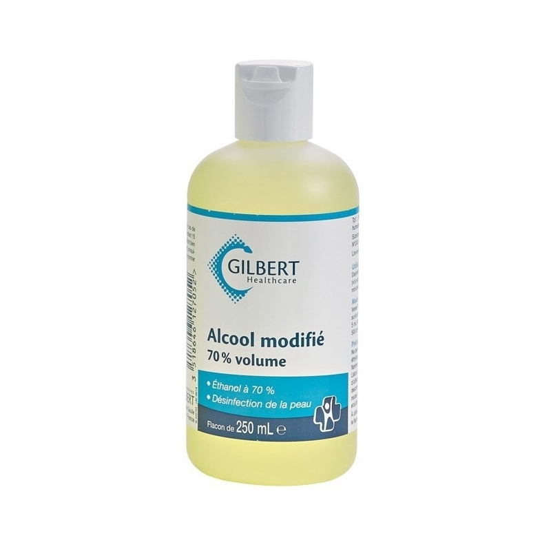Alcool & Chlorhexidine  Alcool modifié 70% Gilbert - Flacon 250 ml
