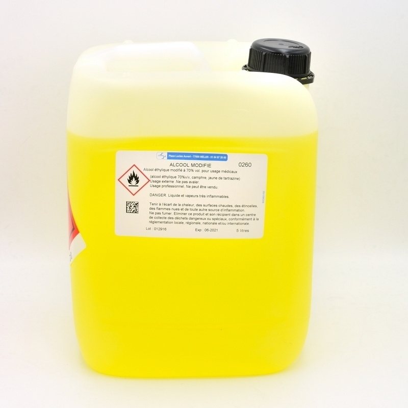 Alcool & Chlorhexidine Alcool modifié 70% Cooper - Bidon 5 L