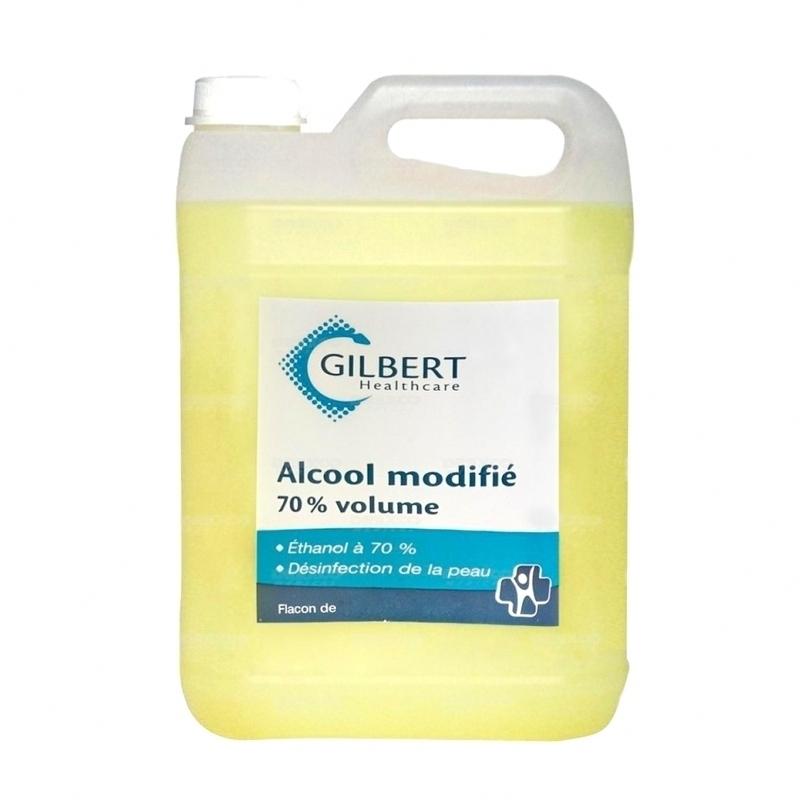 Alcool & Chlorhexidine  Alcool modifié 70% - Laboratoires Gilbert - Bidon 5 L