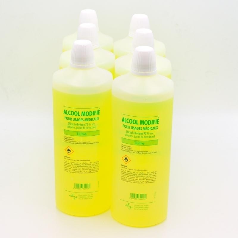 Alcool & Chlorhexidine  Alcool modifié 70% Cooper - Carton 6 x 1 L