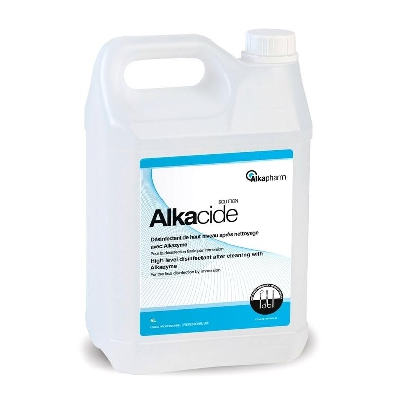 Désinfection du matériel Désinfectant à froid Alkacide - Alkapharm - Bidon 5 L