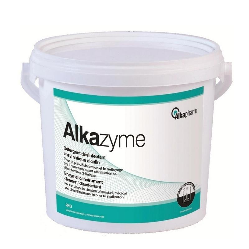 Désinfection du matériel Détergent désinfectant Alkazyme - Pré désinfectant en poudre - Seau 2 kg