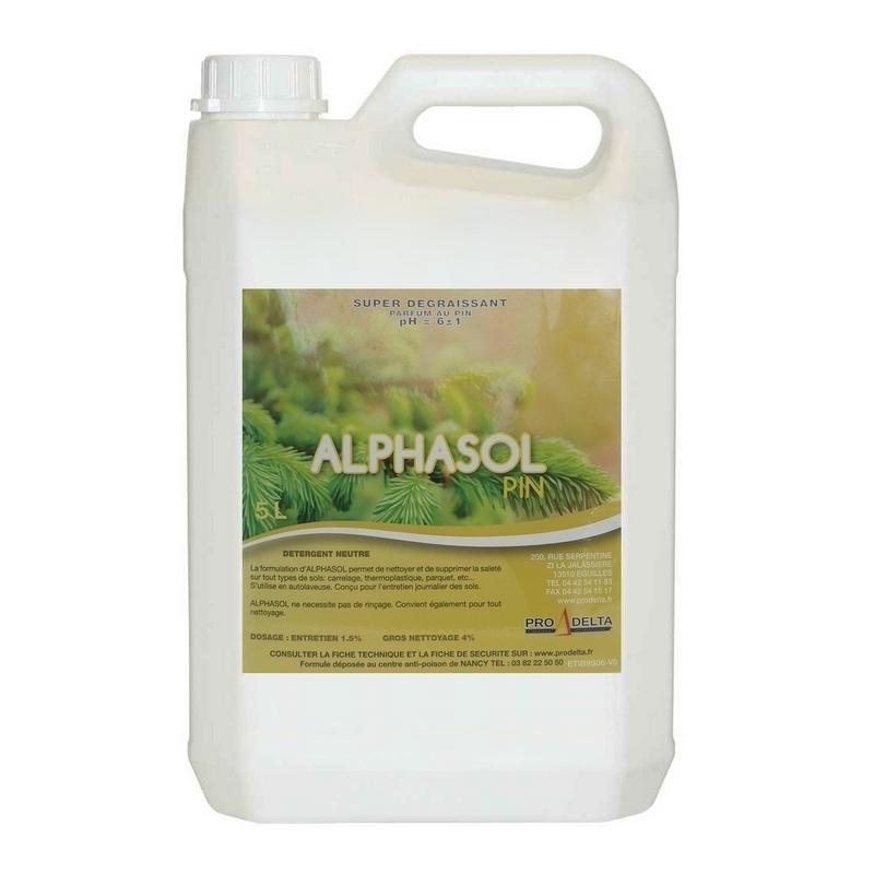 Nettoyage et désinfection sols & surfaces Alphasol - Détergent parfum Pin - Sans rinçage - Bidon 5 litres