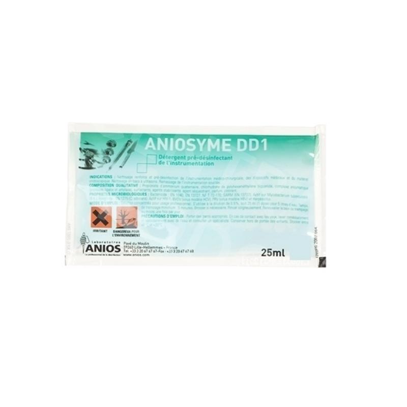 Désinfection du matériel Aniosyme DD1 - Nettoyant et pré-désinfectant - Carton de 50 dosettes de 25 ml