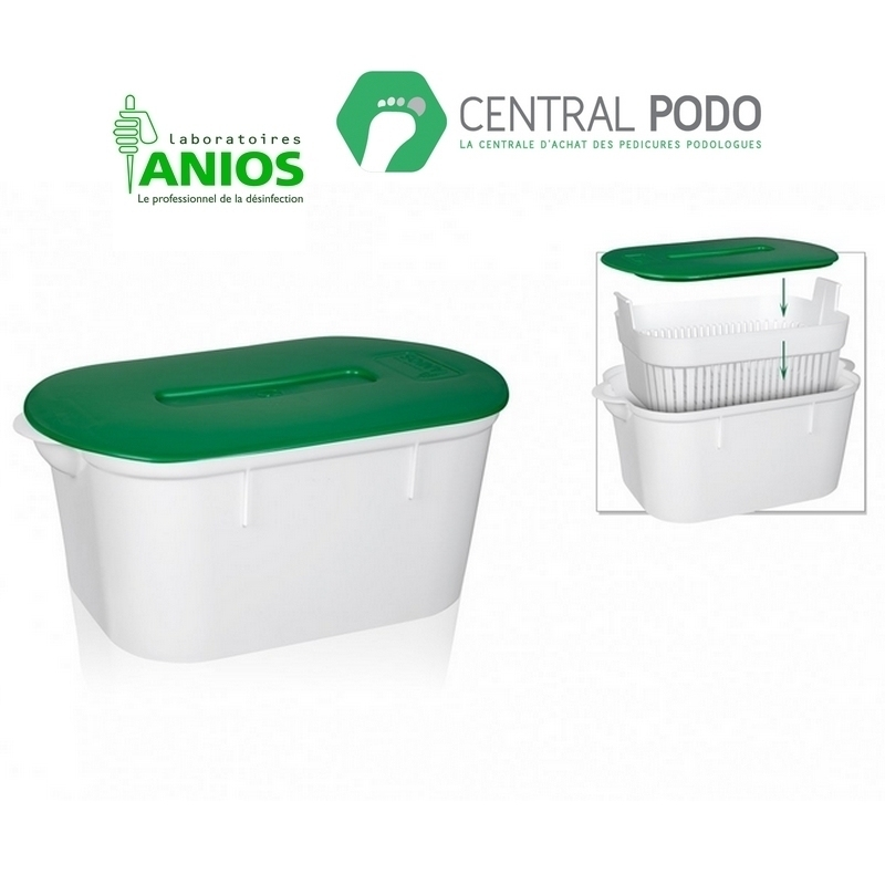 Bac de trempage Anios 2L - Instrubac - Avec ou sans fente