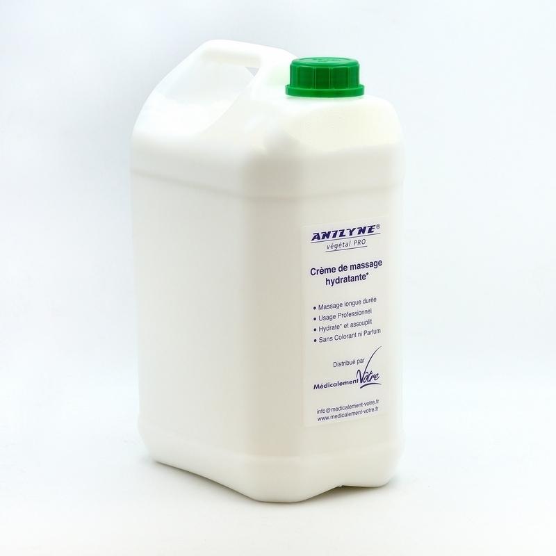 Crème neutre Anilyne Végétale Pro - Crème neutre de massage - Flacon 5 litres