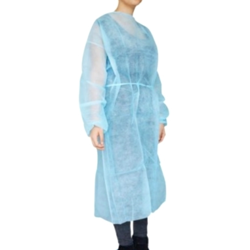 Tabliers & Protections diverses Blouse de protection bleue - Non tissé - Sachet de 10
