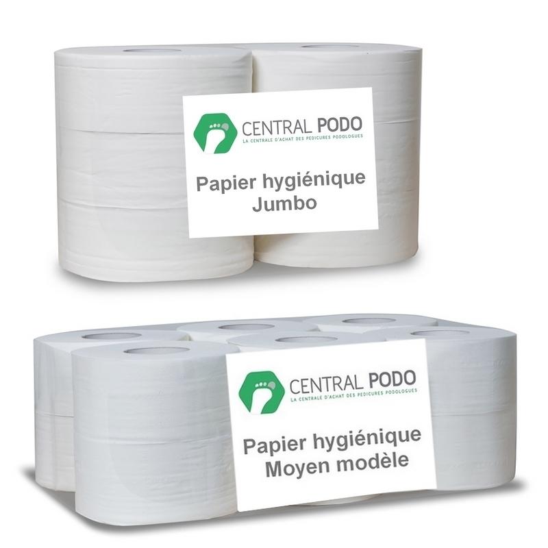 Papier hygiénique Papier hygiénique - Bobine micro gaufré - Moyen modèle 12 rouleaux - Jumbo 6 rouleaux