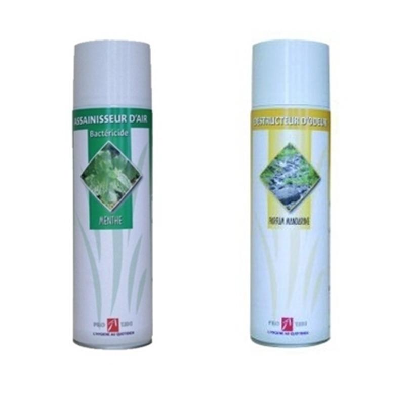 Traitement air et odeur Bombe désodorisante et bactéricide - 500 mL - Menthe ou citron