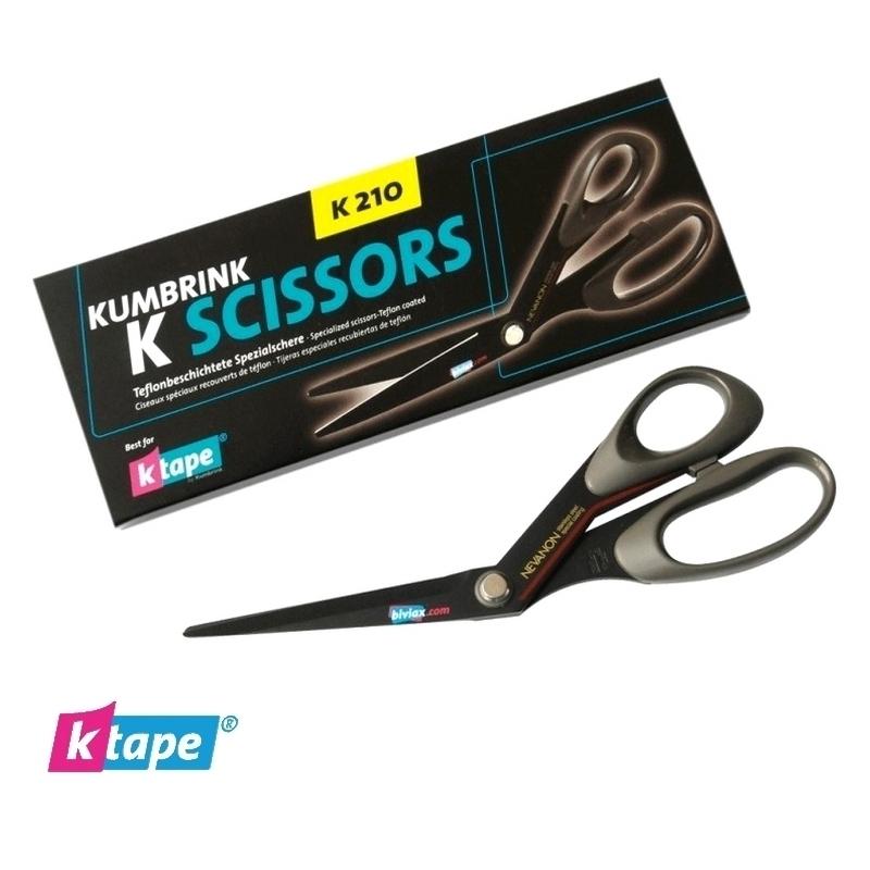 Râpes & Ciseaux & Divers Ciseaux K Tape - 21 cm noir - Droitier ou gaucher - Unitaire