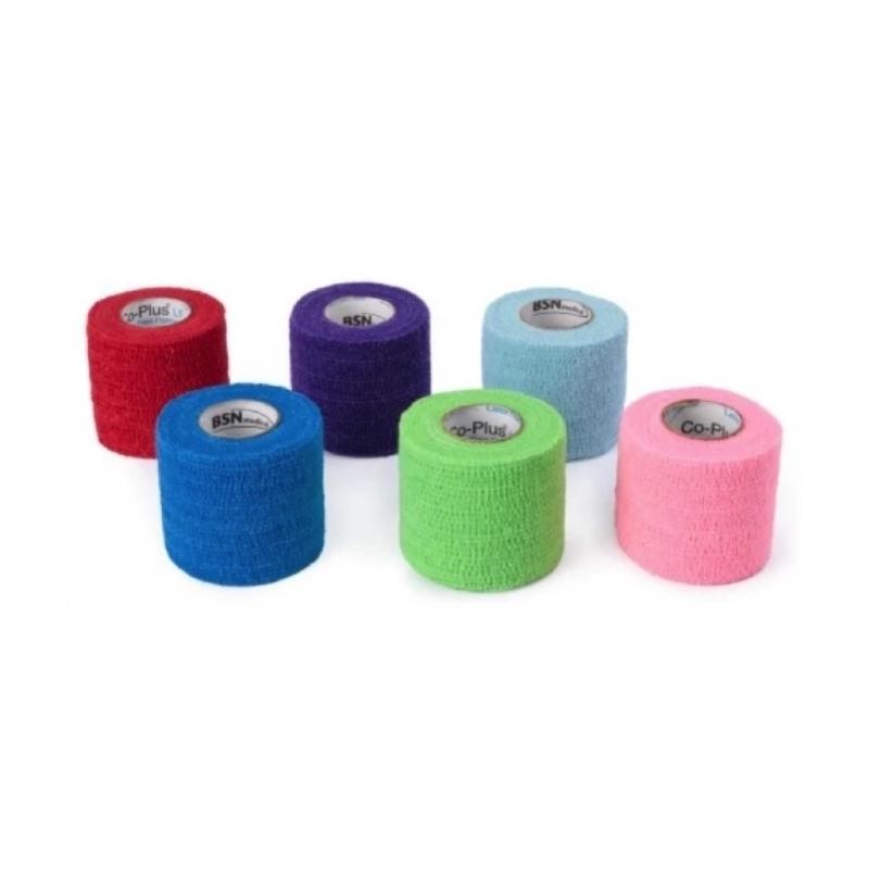 Pansements Co Plus LF BSN - Bande cohésive sans latex - 5 cm x 2 m - Différents coloris