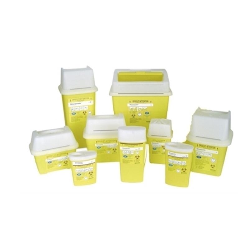 Collecteur de déchets Collecteurs d'aiguilles & déchets infectieux - Sharpsafe - Toutes tailles