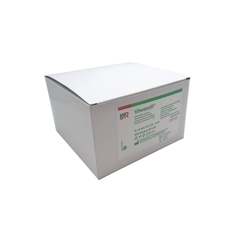 Compresses Compresse stérile Vliwasoft - Non tissé - Toutes tailles - Boite de 200