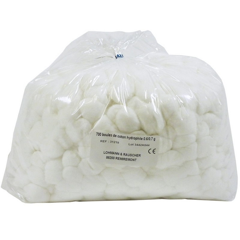 Coton Coton boule hydrophile - Sachet de 700 cotons