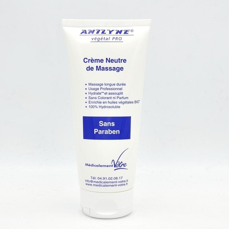 Crème neutre Anilyne Végétale Pro - Crème neutre de massage - Tube 200 ml