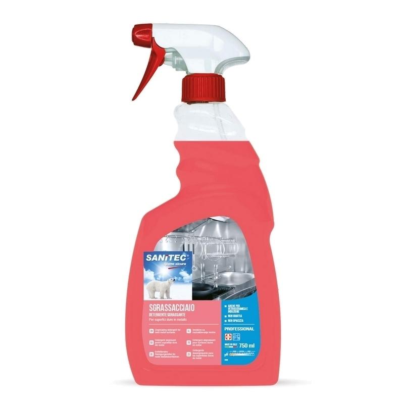 Nettoyage et désinfection sols & surfaces Nettoyant Surfaces Inox Sanitec - Détergent & dégraissant - Spray 750 ml