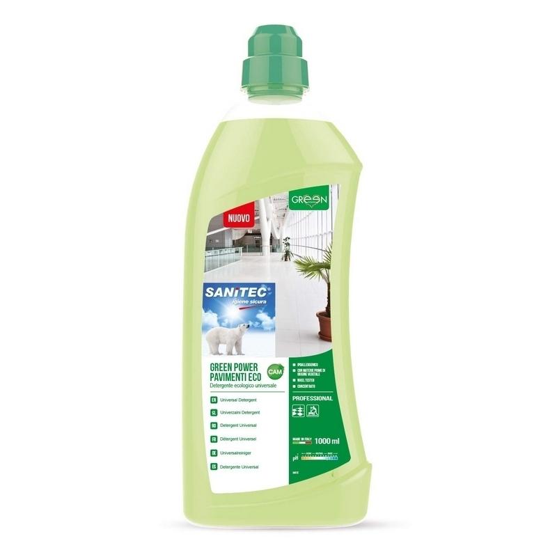 Nettoyage et désinfection sols & surfaces Green Power Sol & Surfaces - Détergent écologique concentré - Flacon 1 litre