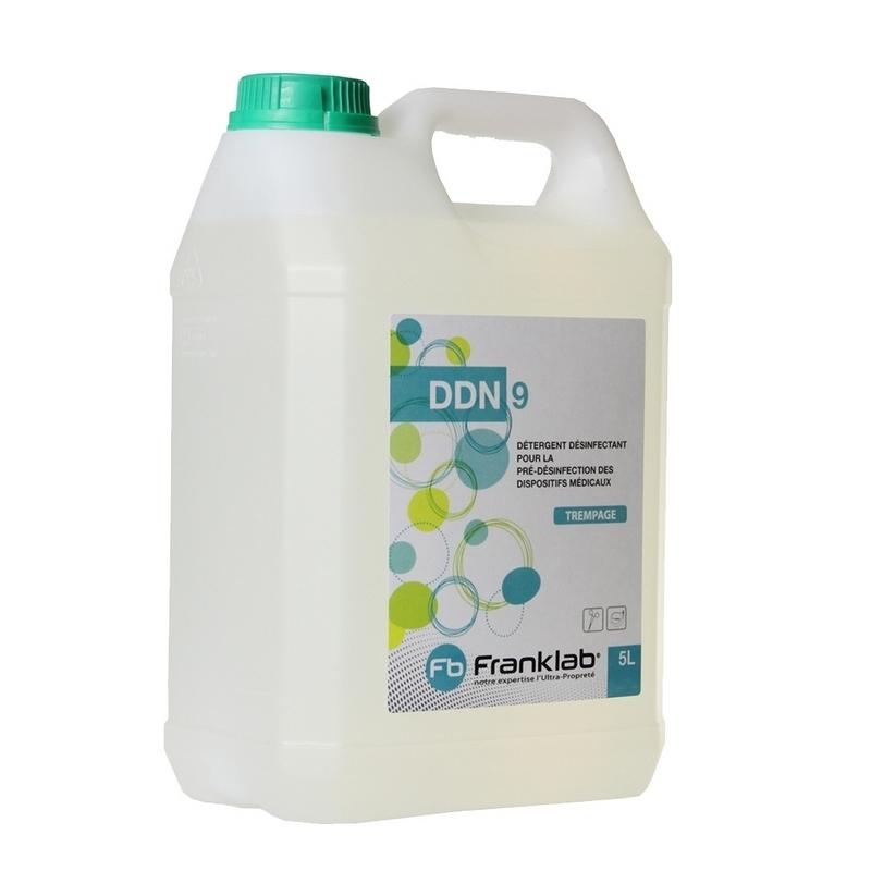 Désinfection du matériel Détergent désinfectant DDN 9 - Dispositifs médicaux - Bidon 5 L