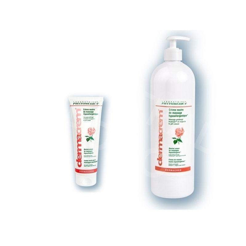 Crème neutre Dermacrem Phytomédica - Crème de massage - Tube 250 ml ou flacon 1 litre