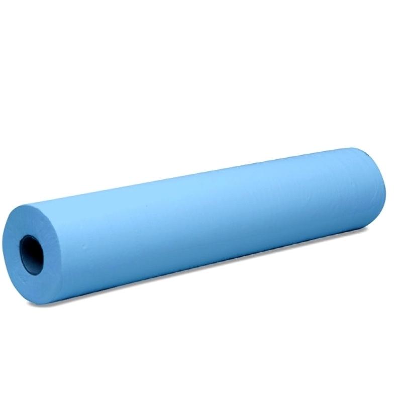 Draps d'examen Drap d'examen plastifié bleu - 132 formats - 50 x 38 cm - Rouleau unitaire