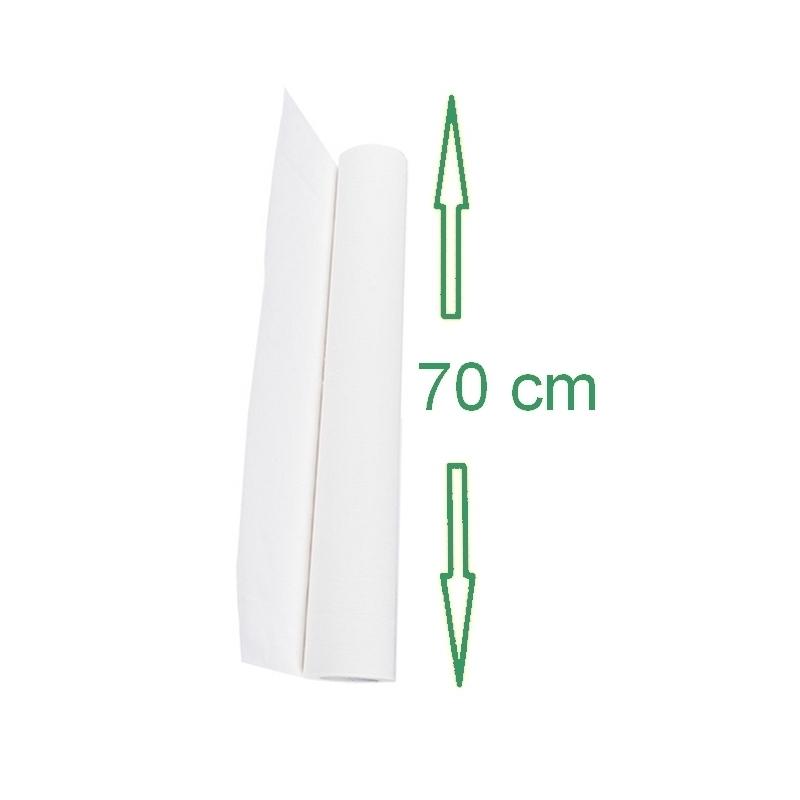 Draps d'examen Drap d'examen lisse - 70 x 37 cm - Vi&Di D461 - Rouleau unitaire