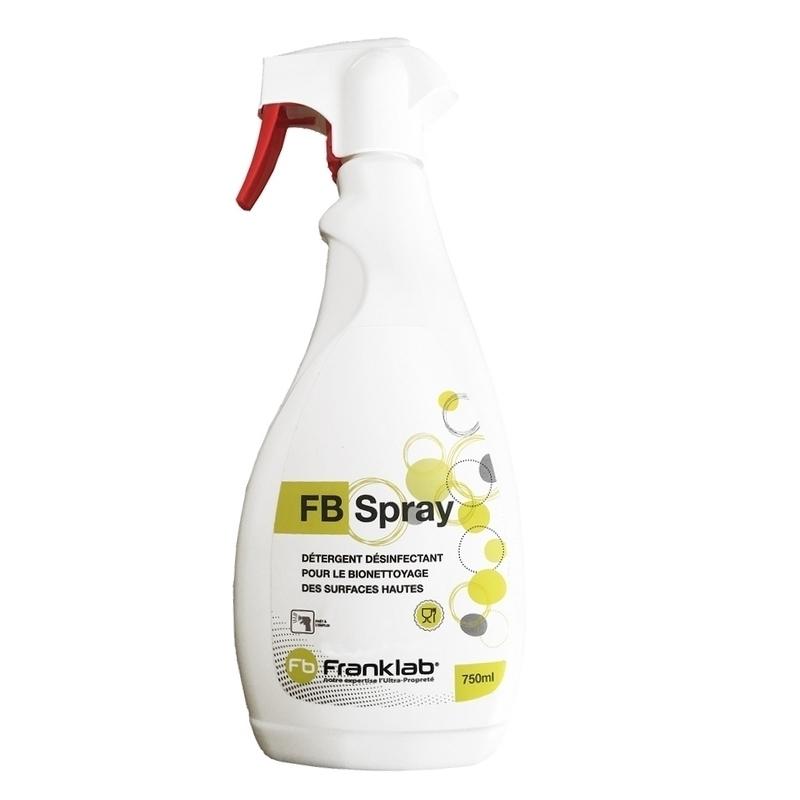 Nettoyage et désinfection sols & surfaces FB Spray Surfaces hautes - Détergent & désinfectant surfaces hautes - Flacon de 750 ml