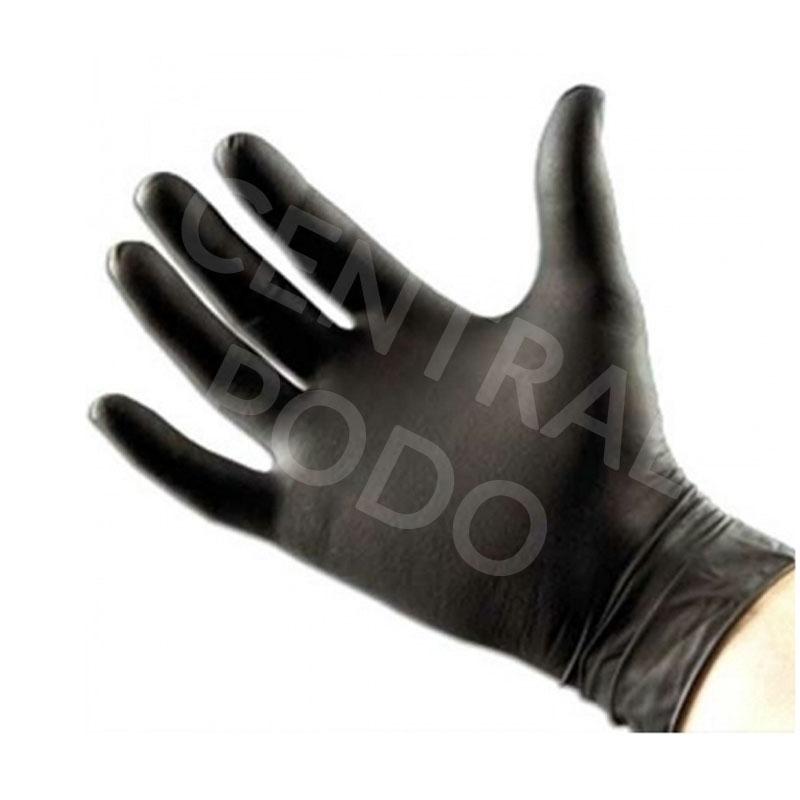Gants nitrile noir Emilabo - Tailles S / M / L - Boite de 100