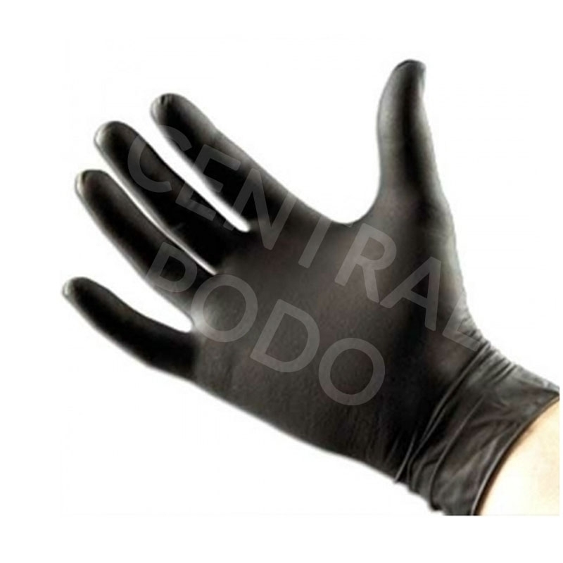 Gant nitrile Gant nitrile noir Emilabo - Sans poudre - Boite de 100