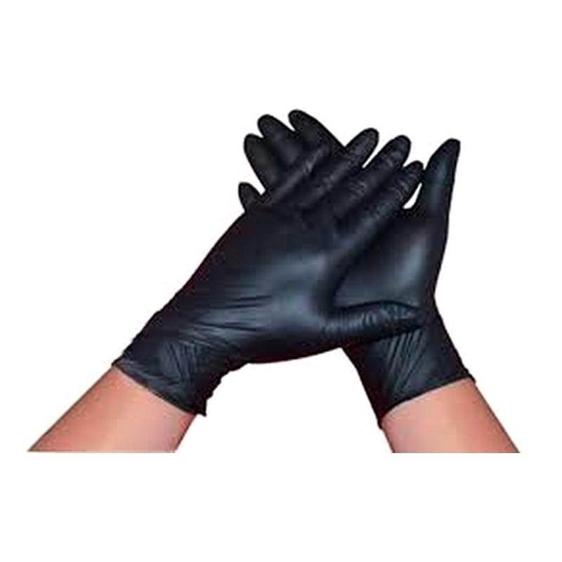 Gant nitrile Gant nitrile noir Techline - Sans poudre - Boite de 100