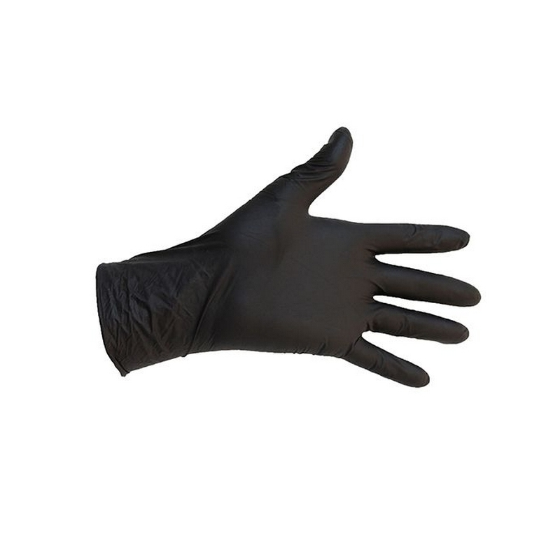 Gant nitrile Gants nitrile noir Parmadis - Taille XL - Boite de 100