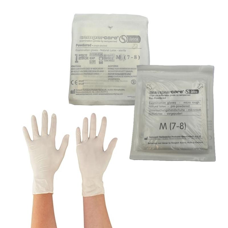 Gant latex stérile Gant stérile latex poudré - Sempercare - Lot de 2 pièces
