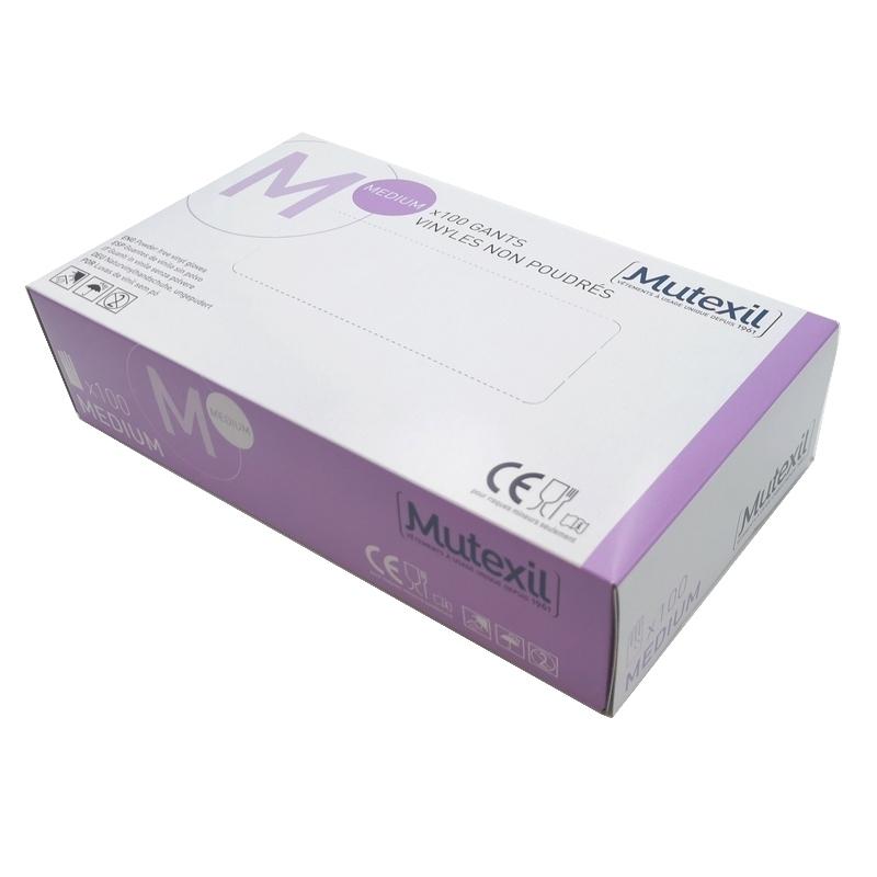 Gant vinyle Mutexil - Sans poudre - Boite de 100