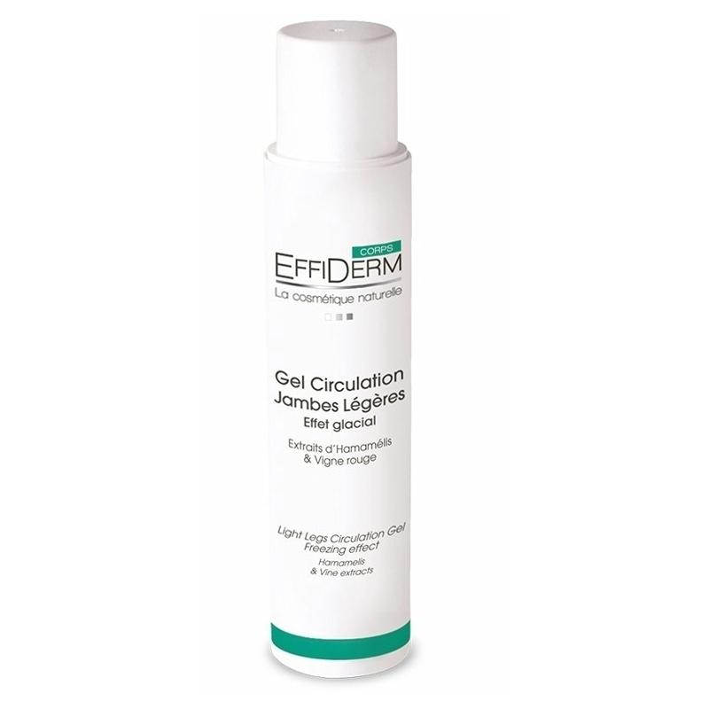 Gel froid Gel circulation jambes légères - Effet glacial - EffiDerm - Flacon 250 ml