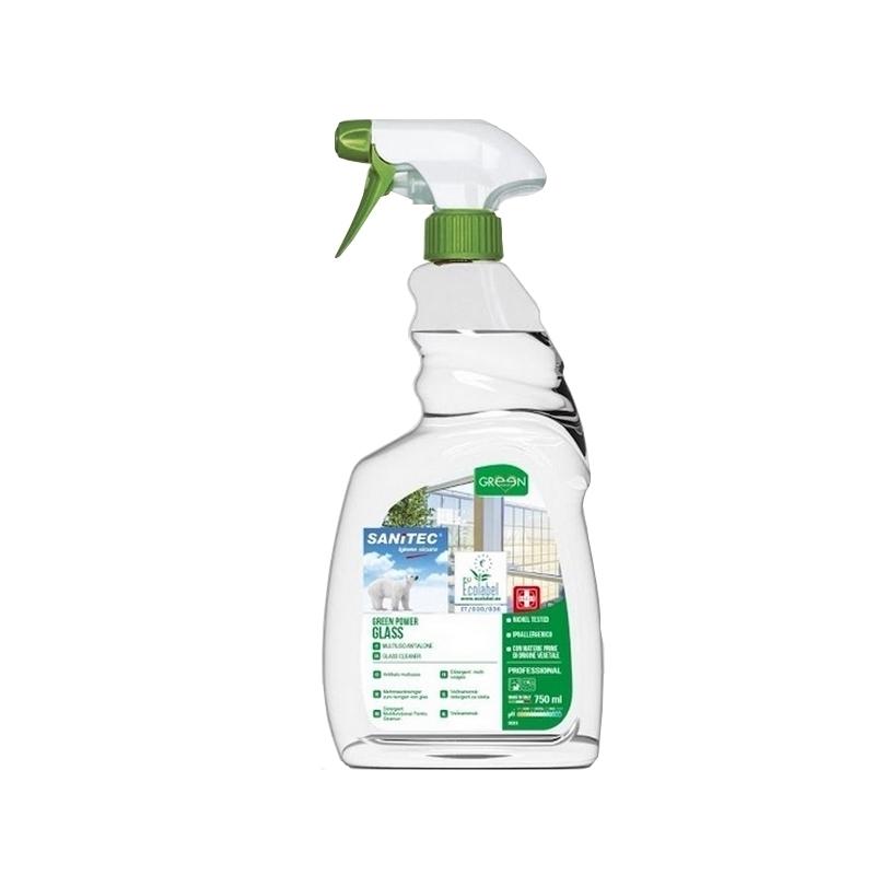 Nettoyage et désinfection sols & surfaces Green Power Glass - Nettoyant vitres écologique - Flacon 750 ml
