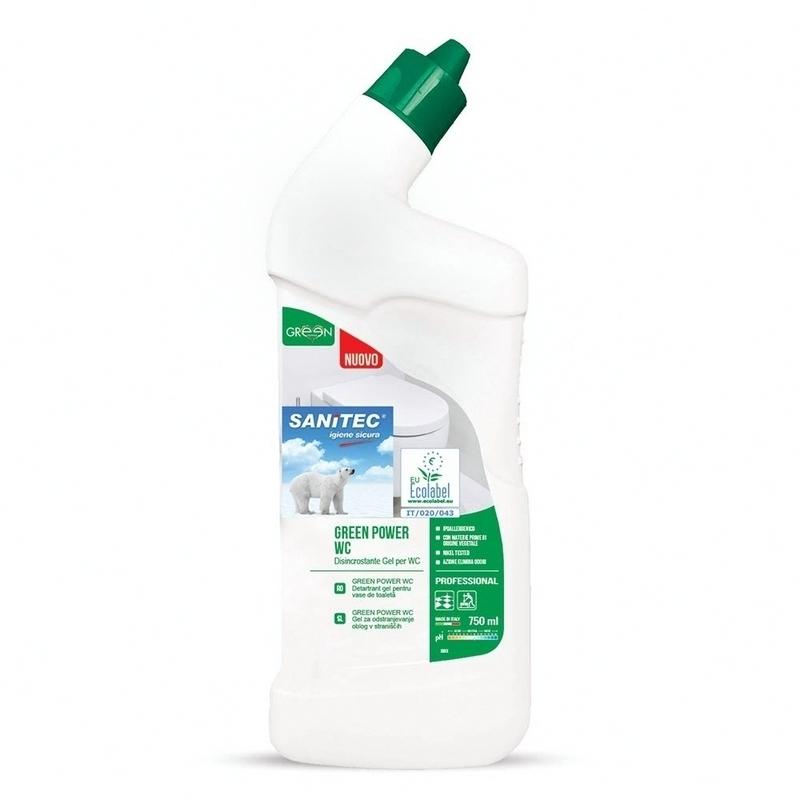 Nettoyage et désinfection sols & surfaces Green Power WC - Gel détergent écologique - Flacon 750 ml