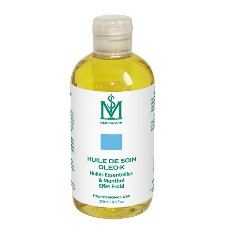 Huile Huile de soin Oleo K - Effet froid - Medicafarm - Flacon 250 ml