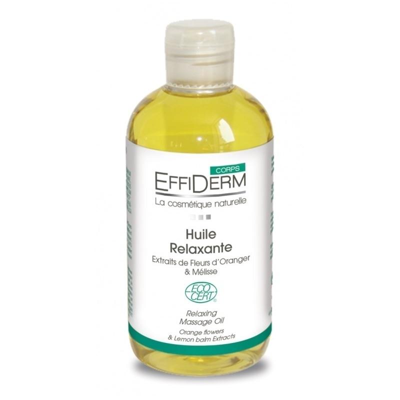 Huile Huile de massage Relaxante Bio - Effiderm - Flacon 250 ml