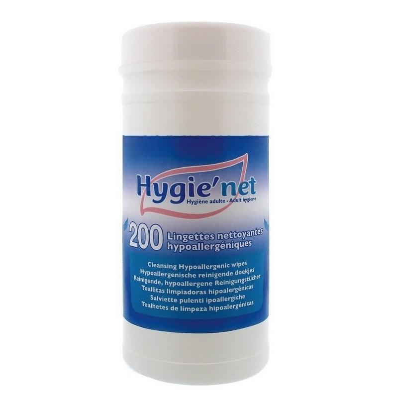 Lingettes  Lingette corporelle Hygie'Net - Hypoallergénique - Boite de 200