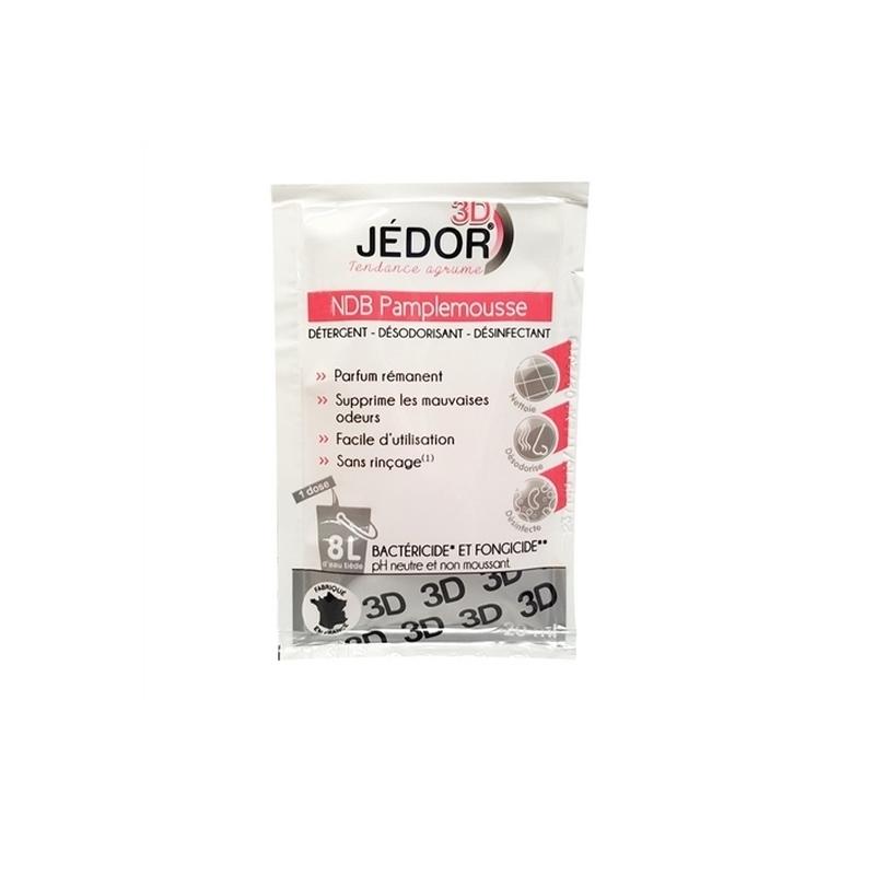 Désinfection du matériel Détergent désinfectant Jédor 3D - Parfum Pamplemousse - 50 doses de 20 ml