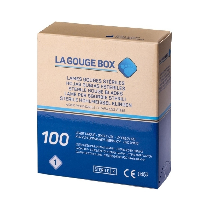Lames de gouges Lame de gouge stérile La Gouge Box - Boite de 100 - Tous numéros