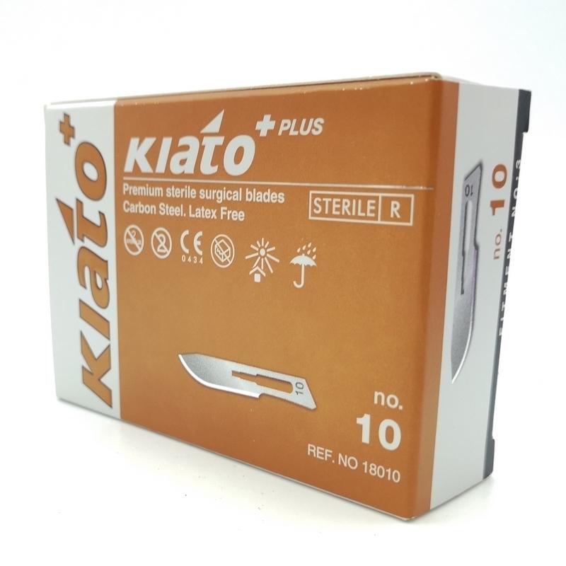 Lames de bistouris stériles Lame de bistouris N°10 Kiato - Stérile - Boite de 100