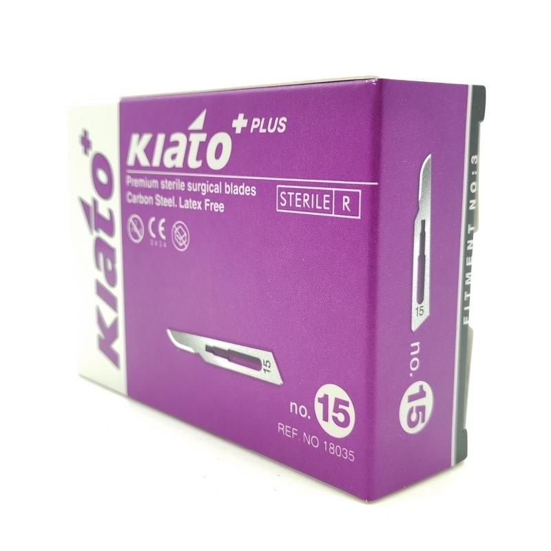 Lames de bistouris stériles Lame de bistouris N°15 Kiato - Stérile - Boite de 100