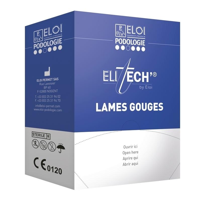 Lames de gouges Lame de gouge stérile Eloi - Boite de 500 - N°1 / N°2