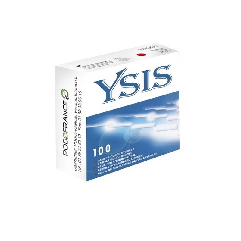 Lames de gouges Lame de gouge stérile Ysis - Boite de 100 - N°1 / N°2 / N°3