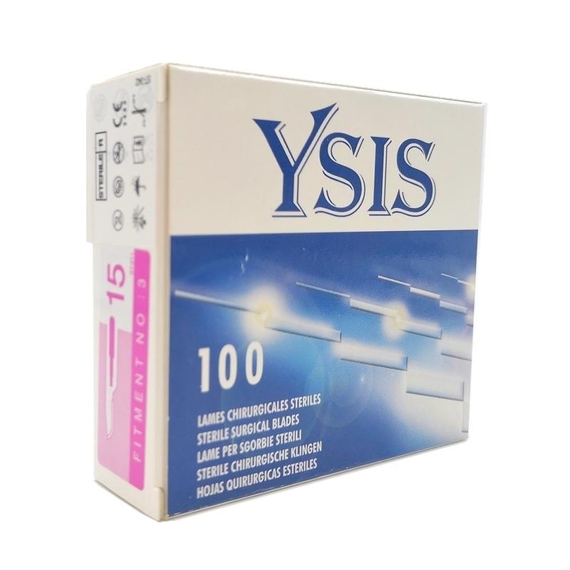 Lames de bistouris stériles Lame de bistouris N°15 Ysis - Stérile - Boite de 100