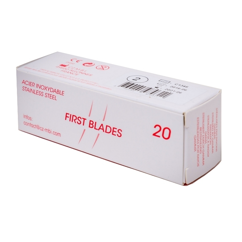 Toutes les promotions Lame de gouge stérile First Blades - Boite de 20 - N°1 / N°2