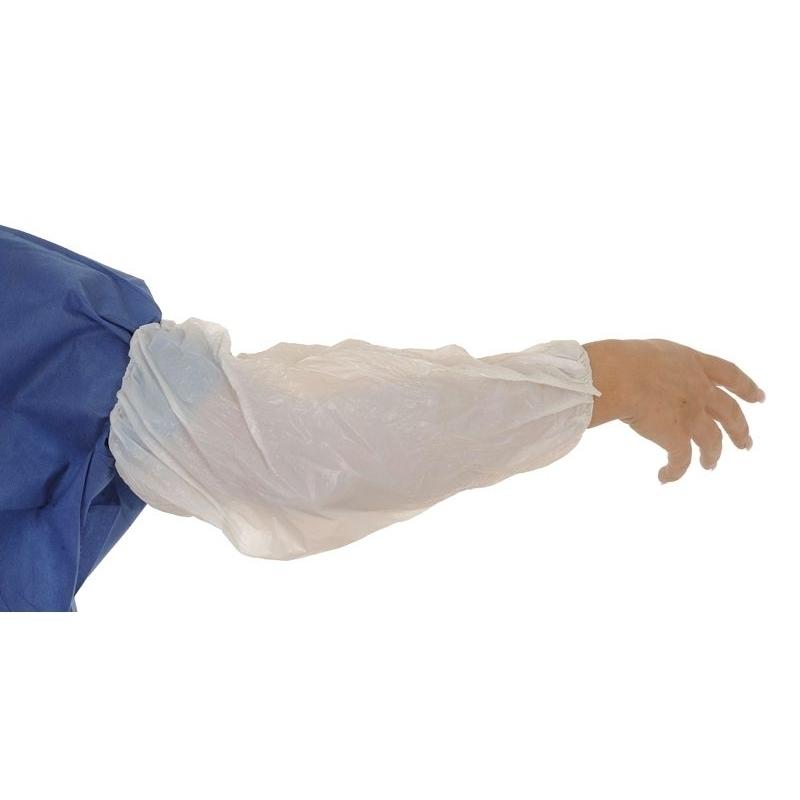 Tabliers & Protections diverses Manchette de protection - Polyéthylène blanc - Sachet de 100