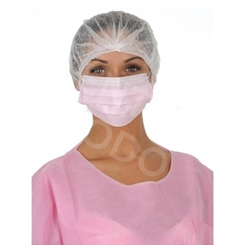Masque Masque élastique rose - 3 plis - Boite x 50