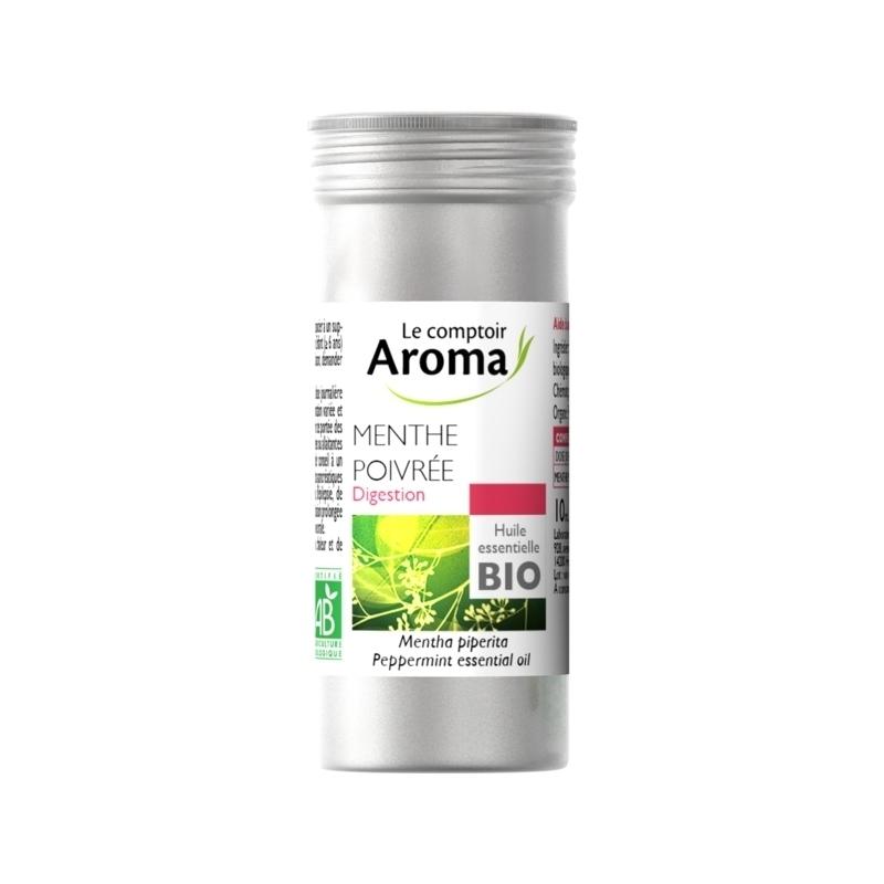 Aromathérapie Huile essentielle bio - Le Comptoir Aroma - Menthe Poivrée - Flacon alu 30 ml